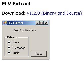 FLV Extract ダウンロード