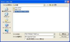 DVD Flick �t�@�C���ǂݍ���