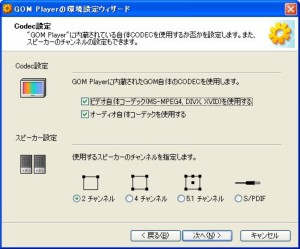 GOM PLAYER 設定